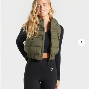 Gymshark Essential Crop Gilet Puffer Vest - NWT
